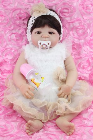 Linda Bebê Reborn Rose Todinha em Silicone