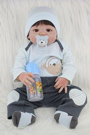 Bebê Reborn Todo Silicone Tom com Pijama