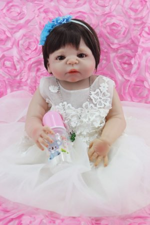 Bebê Reborn Giovanna com Vestido Rendado 55cm