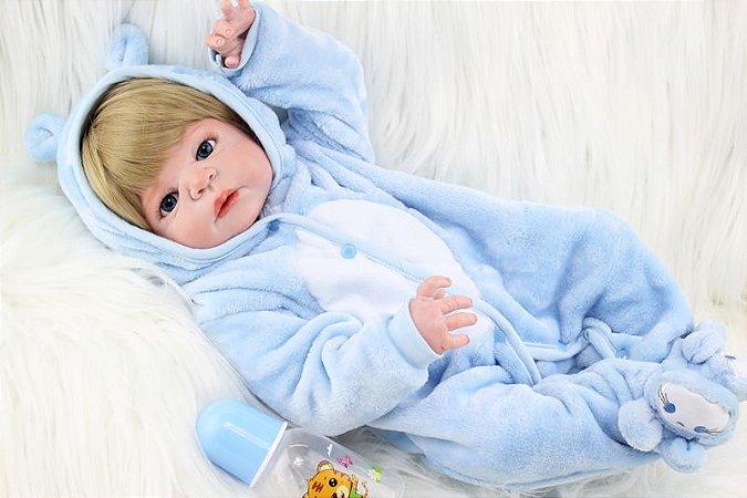 Bebê Reborn Igor 55cm com Pijama Lançamento 2020