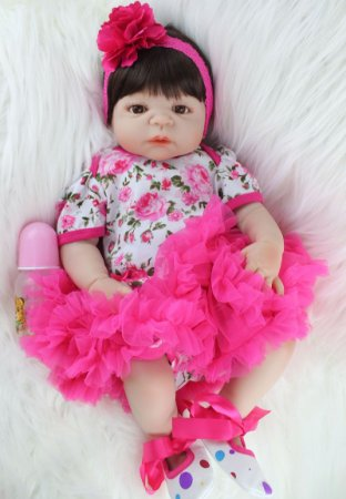 Bebê Reborn Amy Feita Inteira de Silicone Ótimo Presente