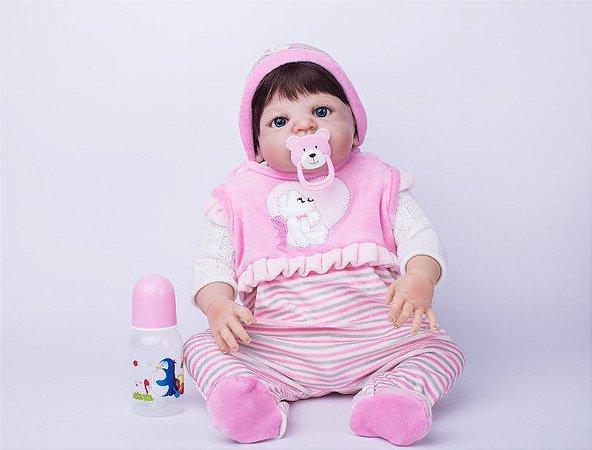 Bebê Reborn Chelsea 55cm Lançamento 2017 Toda em Silicone