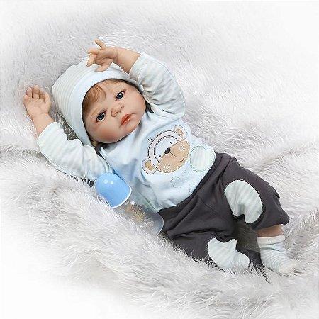 Lindo Bebê Reborn Pietro Lançamento 2017 Inteiro em Silicone