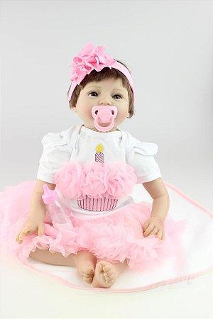 Bebê Reborn Aline Risonha 55cm Super Promoção!