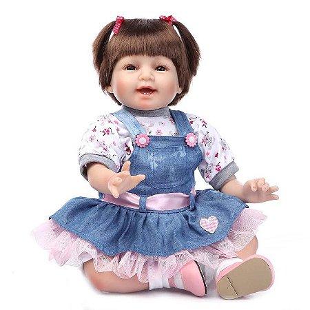 Bebê Reborn Susana Sempre Alegre com Rostinho Delicado