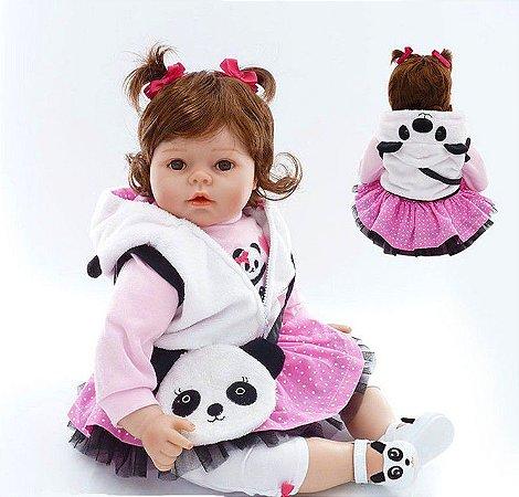 Bebê Reborn com Enxoval Exclusivo de Panda! Lançamento 2017