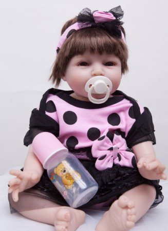 Boneca Reborn Maravilhosa Lola com Tiara
