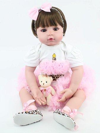 Linda e Fofa Bebê Reborn Vanessa 55cm Ótimo Presente!