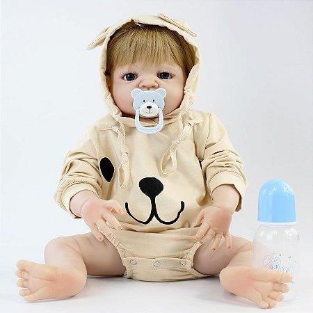 Bebe Reborn Menino Tomaz Super Fofo - Inteiro em Silicone com 55cm