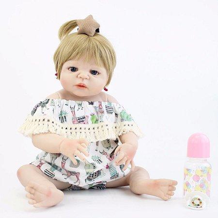 Bebe Reborn Jenifer com 55cm - Inteira em Silicone (2018)