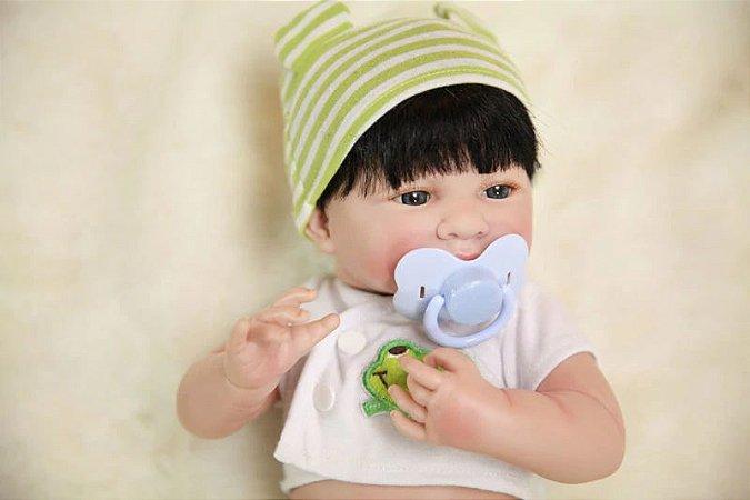 Bebe Reborn Ted com 35cm, Inteiro em Silicone