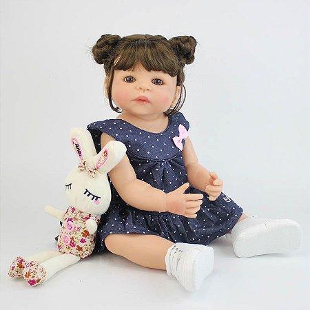 Bebe Reborn Ana Clara com 55cm - Inteira em Silicone 2019