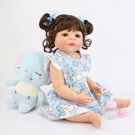 Bebe Reborn Maria Eduarda com Ursinho - Lançamento 2019