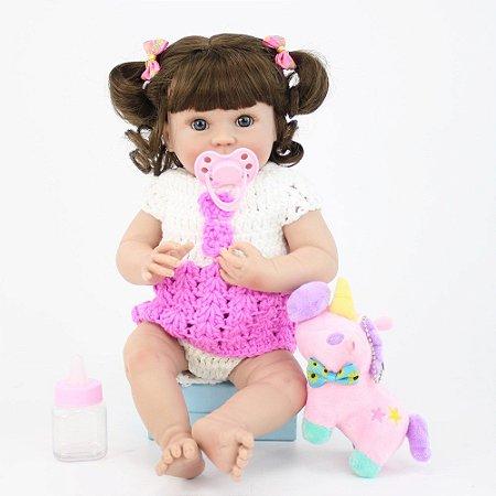 Bebe Reborn Pennelope de 35cm - Lançamento 2019