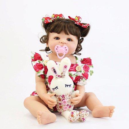 Bebê de Silicone Reborn Natalia Inteira em Silicone 55cm