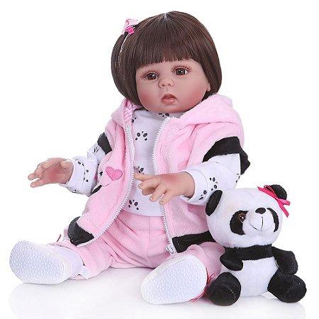 Bebê de Silicone Reborn Taylor Fashion Inteira em Silicone 48CM