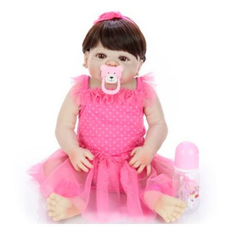Bebê de Silicone Reborn Nani Inteira em Silicone 55cm - PRONTA ENTREGA