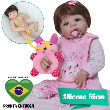 Bebê Reborn Kira Best Friends Ruivinha 55cm - Pronta Entrega!