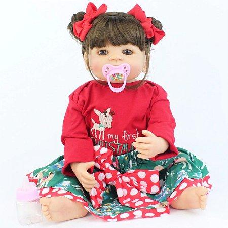 Bebê Reborn 55cm My First Christmas - Edição Especial!