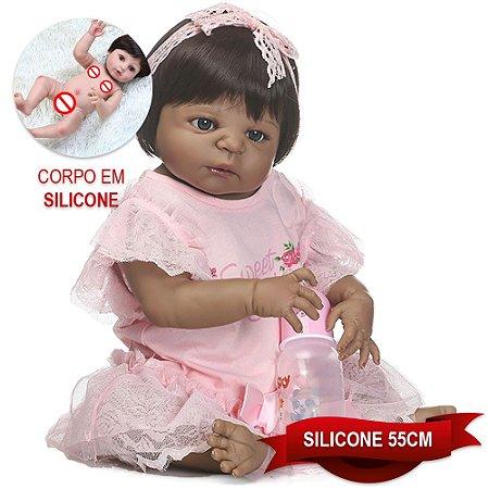 Bebê Reborn Walesca Sweet Girl 55cm