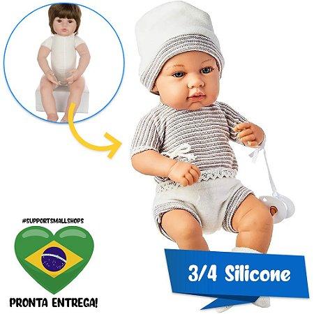 Boneco Estilo Bebê Reborn Rick Elegance 40cm Baby Brink - Pronta Entrega!