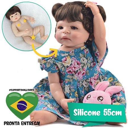 Bebê Reborn Hadassa 55cm com Vestido Florido - Pronta Entrega!