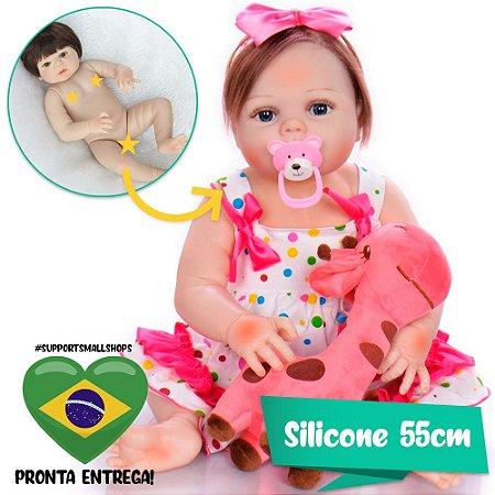 Bebê Reborn Adriana 55cm Pode Dar Banho - Pronta Entrega!