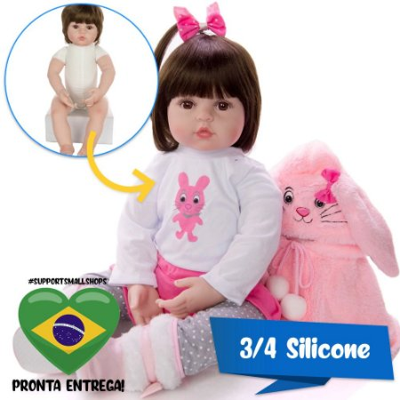 Bebê Reborn Sofia 48cm 3/4 Silicone Lançamento 2020 - Pronta Entrega!