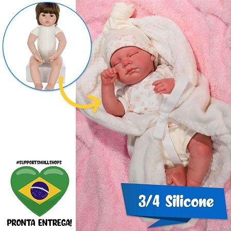Bebê Reborn 40cm Baby Brink July Muito Realística - Pronta Entrega!