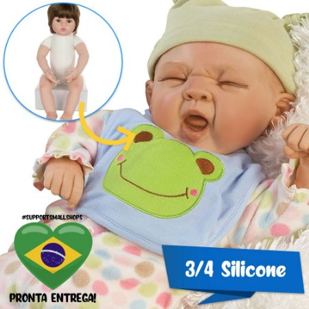 Bebê Reborn 44cm Sleepy Frog Paradise Galleries - Pronta Entrega!