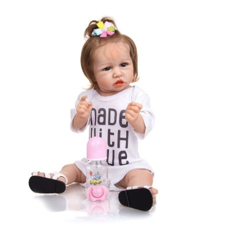 Bebê Reborn Pamela 55cm Corpinho Inteiro em Silicone - Lançamento 2021