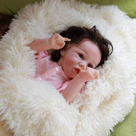 Bebê Reborn Pamela 50 cm Corpinho Todo em Silicone