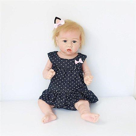 Bebê Reborn Laura 50 cm Corpinho Todo em Silicone