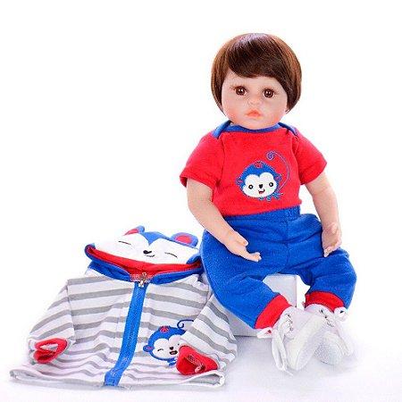 Bebê Reborn Matthew 48cm Corpinho em Pano