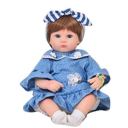 Bebê Reborn Stephany 42 cm Corpinho em Pano