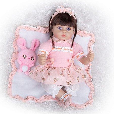 Bebê Reborn Claire 48 cm Corpinho em Pano