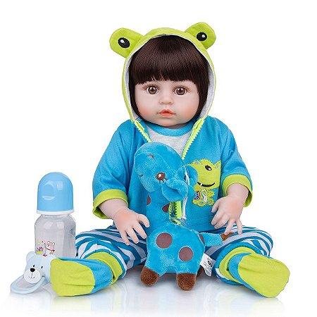 Bebê Reborn Anthony  49 cm Corpinho Todo em Silicone