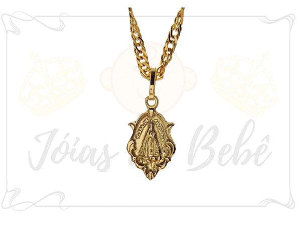 8bbc5a100f53a Pingente de Ouro Medalha Oval Nossa Senhora Aparecida - Pingentes ...