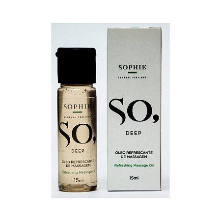 Óleo Refrescante de Massagem SO, DEEP - 15 ml