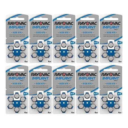 60 Pilhas Rayovac Tam 675 para Implante Coclear - IMPLANT PRO+