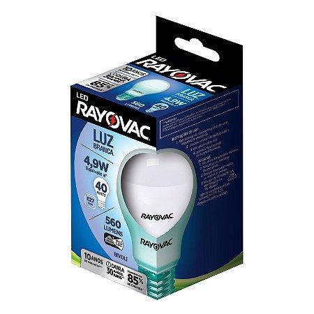 Lâmpada Led Rayovac Bulbo 4.9w Bivolt Branca