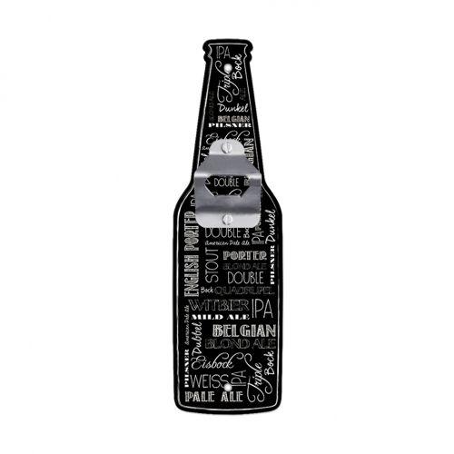 Abridor de Garrafa de Parede Formato Cerveja