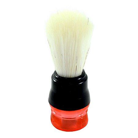 Pincel para Barbear Pelo Natural e Cabo Plástico