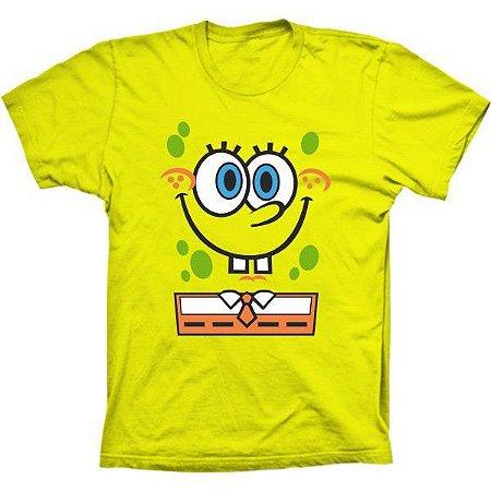 Camiseta Bob Esponja Calça Quadrada