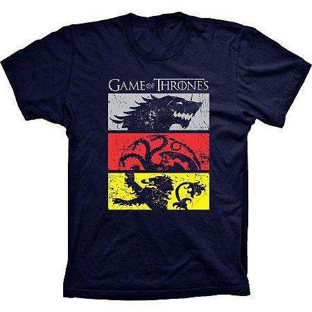 Camiseta Game Of Thrones Casas