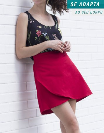 Saia Envelope Tulipa Vermelha