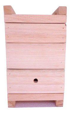 Caixa abelha Mandaçaia 15X15 cm- 3 cm espessura - EUCALIPTO