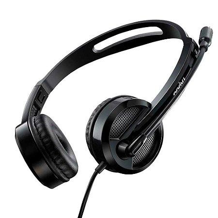 Headset Rapoo P2 P3 3.5MM Microfone Sem Ruído Preto H100 - RA019