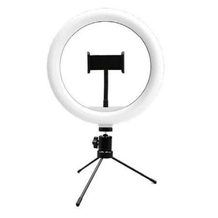 Ring Light Livestream 10 Pol. com Tripé Ajustável USB - AC370