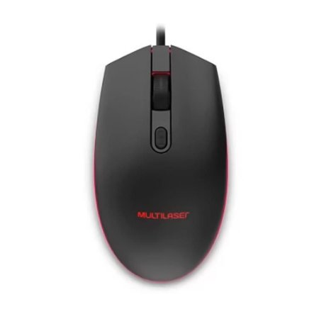 Mouse Gamer Multilaser 2400DPI Led Preto - MO298